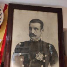 Fotografía antigua: FOTOGRAFÍA SOLDADO DE 62 X 43 CM. Lote 228196630