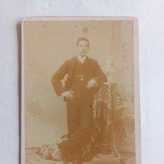 Fotografía antigua: FOTOGRAFÍA TAMAÑO GABINETE HIPOLYTO FRITOT. BUENOS AIRES, FF. S. XIX. ARGENTINA.. Lote 228401270