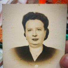 Photographie ancienne: FOTOGRAFÍA SEÑORA DEDICADA 1948 BILBAO FOTOGRAFÍA GARAY AMEZAGA N 5 ORIGINAL. Lote 229384805