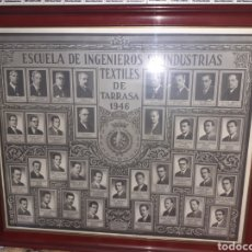 Fotografia antiga: CUADRO INGENIEROS DE TEXTIL AÑO 1946.VER.... Lote 230031625