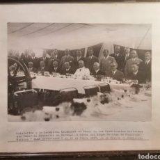 Fotografía antigua: BILBAO GRAN FOTOGRAFÍA ALTOS CARGOS COMERCIALES CON NORUEGA ORIGINAL 1935. Lote 231413835