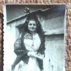 Photographie ancienne: TRAJE REGIONAL DE VALENCIA - FALLERA. Lote 232568370