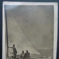 Photographie ancienne: FOTOGRAFIA REALIZADA EN LA PLAYA DE LA MAR BELLA DE BARCELONA (POBLENOU) DEL AÑO 1944. Lote 235528220