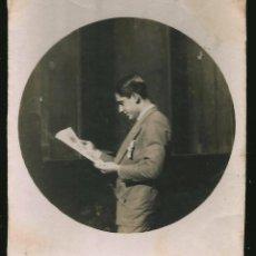 Fotografía antigua: 15 - HOMBRE JOVEN ESTUDIANTE ( CIRCULO FOTOGAFICO ) - FOTO 7X6CM 1930' GAY INT. Lote 236327735