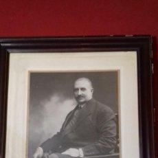 Fotografía antigua: DON JOSÉ DEL PRADO PALACIOS FOTOGRAFÍA KAULAK ANTONIO CANOVAS DEL CASTILLO - DEDICADA A LUIS ANTÓN. Lote 238896195