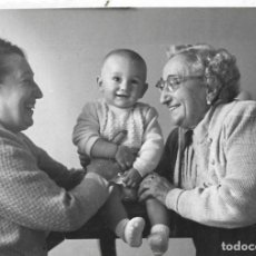 Fotografia antica: == HH523 - FOTOGRAFIA - DOS SEÑORAS CON UN NIÑITO. Lote 240574400