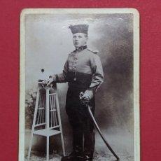 Fotografía antigua: ANTIGUA FOTOGRAFIA MILITAR 1896 - FORMATO PEQUEÑO - RUE D'ISLY SÉTIF - J. BONNET ... L3064. Lote 240792120