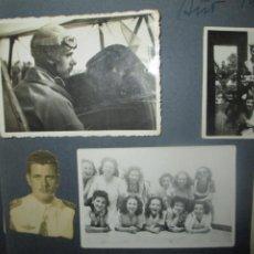 Fotografía antigua: ANTIGUO ÁLBUM FOTOGRAFÍAS ALTOS MANDOS MILITAR AVIACIÓN FALLAS VALENCIA 1946 ALICANTE GRANADA. Lote 241923690