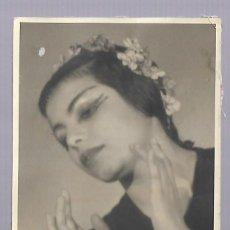 Fotografia antiga: 1R- BONITA FOTOGRAFIA ANTIGUA DE LA BAILADORA ANA MARIA LAZARO DEDICADA EL 8 - 1 - 1.951. Lote 242387890