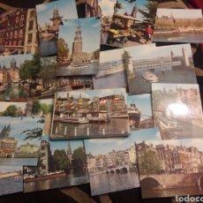 Fotografía antigua: CARPETA CON 20 ANTIGUAS FOTOGRAFÍASS DE ÁMSTERDAM. Lote 242414910