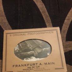 Fotografía antigua: OCHO ANTIGUAS FOTOGRAFÍASS DE FRANKFURT. Lote 242423425