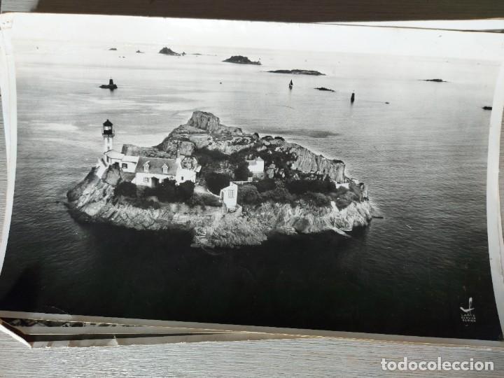 FOTOGRAFIA AÉREA DE BRETAÑA EN FRANCIA PHARE ET I'ILE DE LOUET À CARANTEC EN BAIE DE MORLAIX - AÑO 1 (Fotografía - Artística)