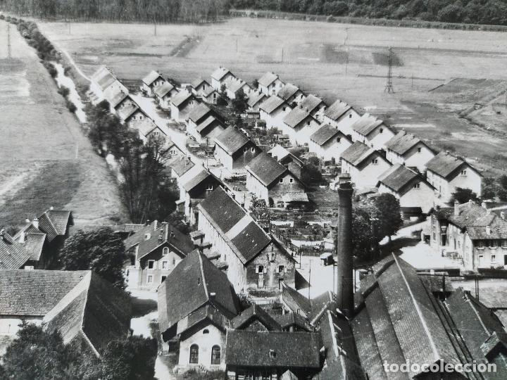 Fotografía antigua: FOTOGRAFIA AÉREA DE FRANCIA LUSINE - LES FORGES DE MORVILLARS DANS LA TROUEE DE BELFORT - AÑO 1958 - Foto 3 - 243531090