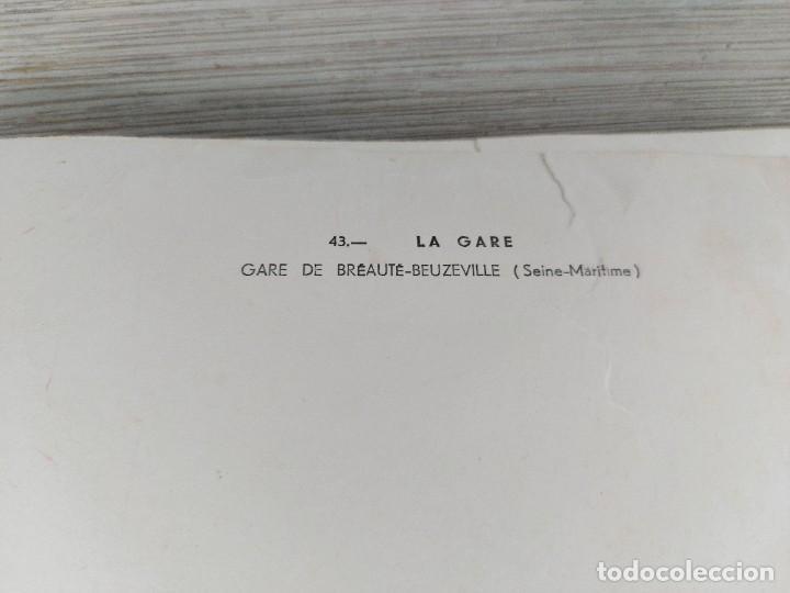 Fotografía antigua: FOTOGRAFIA AÉREA DE FRANCIA LA GARE - GARE DE BRÉAUTÉ BEUZEVILLE EN SEINE MARITIME - AÑO 1958 - LAP - Foto 4 - 243531985