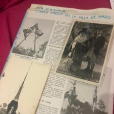 Fotografía antigua: LOTE VILLA DE MAZO ISLA DE LA PALMA FOTOGRAFIA ORIGINAL CORPUS CHRISTI VILLA DE MAZO POSTAL FOTO. Lote 244773300