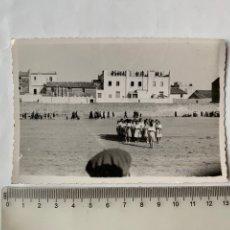 Fotografia antica: FOTO. RESIDENCIA O CAMPAMENTO EN VINAROZ. FOT. GIL ROCA. FECHA, 2 JULIO 1940.. Lote 244975175