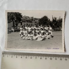 Fotografia antica: FOTO. CAMPAMENTO GARABITAS. O. J. FEMENINA. TALES. CASTELLÓN. FOT. GIL ROCA. 26 JULIO 1940.. Lote 244976275