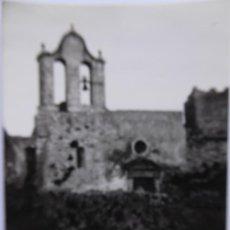 Fotografía antigua: F-5017. ESCLANYÁ (BEGUR). IGLESIA DE SANT ESTEVE, ANTES DE LA RECONSTRUCCIÓN. AÑO 1966.. Lote 245501310