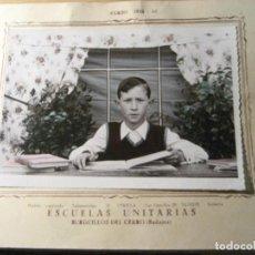 Fotografía antigua: ANTIGUA FOTOGRAFIA RECUERDO ESCOLAR . ESCUELAS UNITARIAS BURGUILLOS DEL CERRO . BADAJOZ CURSO 1952. Lote 245738655
