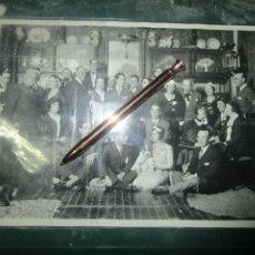 Fotografia antica: ESCULTOR PINTOR MARIANO BENLLIURE Y ESPOSA MADRID ANTIGUA FOTO ORIGINAL ESCRITA 1931 CELEBRIDADES. Lote 84146820