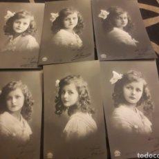 Fotografía antigua: SEIS ANTIGUAS POSTALES FOTOGRAFÍCAS DE 1911. Lote 247611715