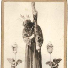 Fotografía antigua: SEVILLA-SEMANA SANTA-CRISTO DE PASION-TAMAÑO FOTO 15X10,50. Lote 251995480