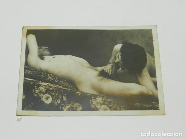 (M) FOTOGRAFIA EROTICA / PORNOGRAFICA, AÑOS 40/50, ORIGINAL, 11X7,5CM, SEÑALES DE USO NORMALES (Fotografía - Artística)