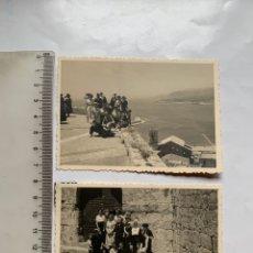 Fotografia antica: FOTO. DE VISITA EN EL CASTILLO DE PEÑISCOLA. FOTÓGRAFO?.. Lote 253879565