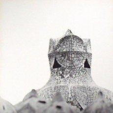 Fotografía antigua: LEOPOLDO POMÉS. FOTOGRAFÍA ARTÍSTICA. LA PEDRERA. GAUDÍ. RENÉ METRAS. NUMERADA 148/200. 1967.. Lote 254197990