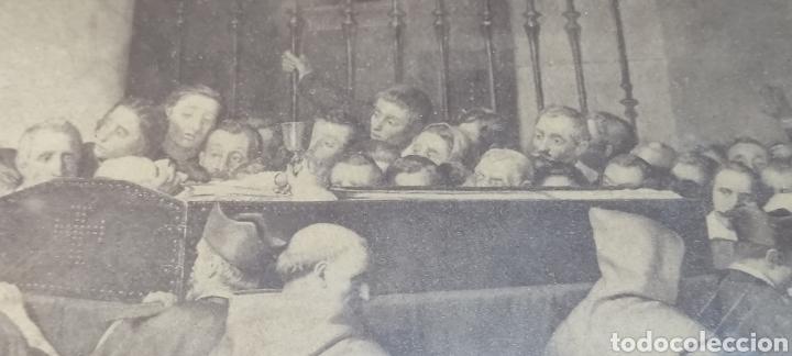 Fotografía antigua: Cuadro con fotografía? de j. Laurent, siglo XIX. Curiosa estampa de un entierro multitudinario. - Foto 6 - 254201310