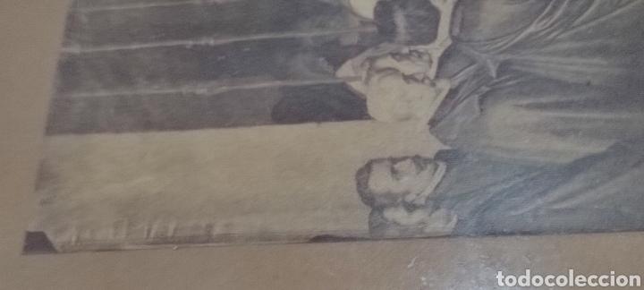 Fotografía antigua: Cuadro con fotografía? de j. Laurent, siglo XIX. Curiosa estampa de un entierro multitudinario. - Foto 9 - 254201310