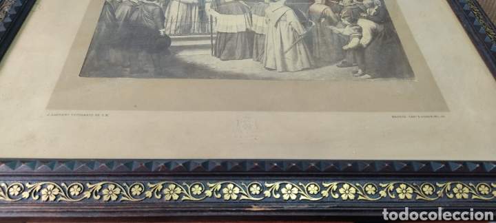 Fotografía antigua: Cuadro con fotografía? de j. Laurent, siglo XIX. Curiosa estampa de un entierro multitudinario. - Foto 12 - 254201310