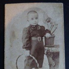 Fotografía antigua: FOTOGRAFÍA DE PRINCIPIOS SIGLO XX REALIZADA EN BARCELONA MEDIDAS 6 X 10 CM. Lote 254255565