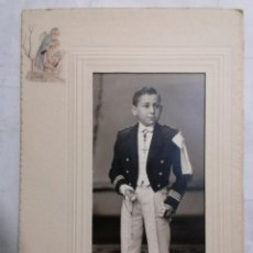 Fotografía antigua: FOTOGRAFIA, NIÑO VESTIDO DE COMUNION, FOTO ROCA MADRID. Lote 254619250