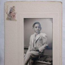 Fotografía antigua: FOTOGRAFIA, NIÑO VESTIDO DE COMUNION, FOTO ROCA MADRID. Lote 254619325