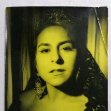 Fotografía antigua: FOTOGRAFIA ESTUDIO ALCAYNA, EMILITA BLANCO CANTANTE, MEDIDAS 18 X 24 CM. Lote 254622320