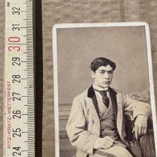 Photographie ancienne: FOTOGRAFIA ANTIGUA DE VISITA FOTOGRAFIA VALENTIN MORA SAN SEBASTIAN RETRATO. Lote 255349135
