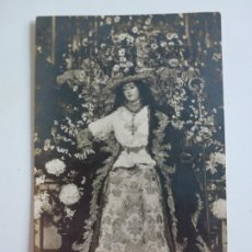 Fotografía antigua: ANTIGUA FOTOGRAFÍA VIRGEN DIVINA PASTORA IGLESIA DE SANTA ANA - TRIANA - SEVILLA - 13,8 X 8,9 CM.. Lote 259283975