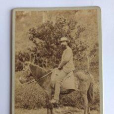 Fotografía antigua: FOTOGRAFÍA ANTIGUA TAMAÑO GABINETE. MAURICE HARGOUS. CUBA, FINALES S. XIX.. Lote 261225065