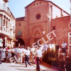 Fotografía antigua: ANTIGÜA FOTOGRAFIA EN COLOR DE CARDONA DE MEDIDAS 15 CM. X 10 CM.. Lote 261846645
