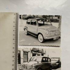 Fotografía antigua: GRANJA FUSTER. LECHE NUTRIA. CONDE DE SALVATIERRA. FIAT 600. CITROEN 2 CV. ANGEL DOLZ. VALENCIA.. Lote 261991295