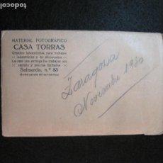 Fotografía antigua: ZARAGOZA-NOVIEMBRE 1930-3 FOTOGRAFIAS + 2 NEGATIVOS-CASA TORRAS-VER FOTOS-(K-2792). Lote 262804380