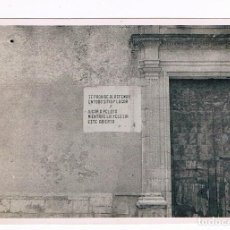 Fotografia antica: ENTRADA A LA IGLESIA DE TOUS (VALENCIA). VER LEYENDA. Lote 263172075