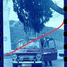 Fotografía antigua: ANTIGUO NEGATIVO O CLICHÉ DE FOTOGRAFÍA. COCHE SEAT 850. AÑOS 60.. Lote 265656674