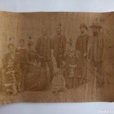 Fotografía antigua: FOTOGRAFÍA ANTIGUA. MARQUESA DE PEÑAFUENTE, BARÓN DE MOLINET. ASTURIAS FF. S. XIX.. Lote 266791519