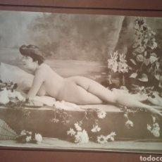 Fotografía antigua: ANTIGUA FOTOGRAFÍA ORIGINAL ARTÍSTICA DE ÉPOCA 1900 DESNUDO. Lote 266845524
