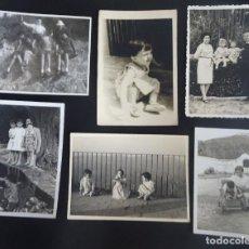 Fotografía antigua: LOTE DE 6 ANTIGUAS FOTOGRAFÍAS , NIÑOS , VER FOTOS. Lote 267431714