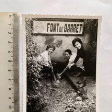 Fotografia antiga: FOTO. EXCURSIÓN ROMANI, FONT DE BARRET. SOLLANA. VALENCIA. FOTÓGRAFO?. FECHA, 10 NOVIEMBRE 1963.. Lote 268866609