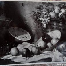 Fotografía antigua: FOTOGRAFÍA ANTIGUA DEL CUADRO BODEGÓN NATURA MUERTA. Lote 269132948