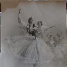 Fotografía antigua: FOTOGRAFÍA ANTIGUA DEL CUADRO SILFIDES DEL PINTOR PEDRO CLOPENA. Lote 269179388